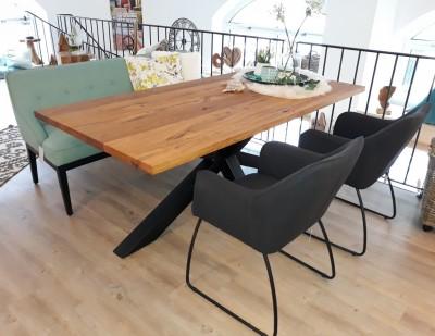 Tischgruppe-Diningbank-Cozy-TomTailor-Schalenstuehle-Spidertisch-Wildeiche