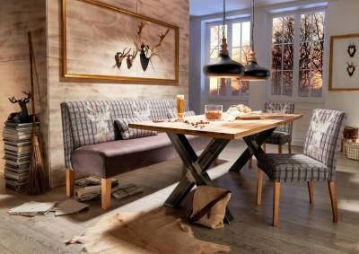 Tischsofa-Barnickel-Polster-Stuhl-Holzbeine
