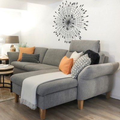Sofa-Domino-2-Sitzer-Longchair-Klapparmlehne