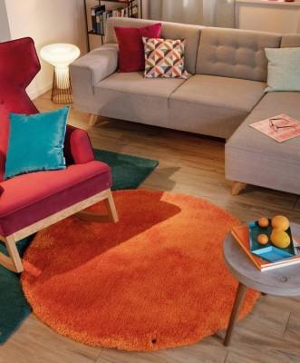 TomTailor-Teppich-Orange-Smaragd-Kissen-Pink-Tuerkis