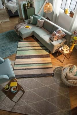 TomTailor-Teppich-Streifen-Raute-Mint-Grau