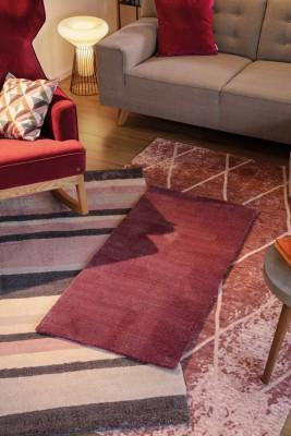 TomTailor-Teppich-Streifen-Raute-Rose