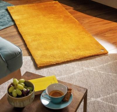 TomTailor-Teppich-Uni-Curry-Raute-Grau